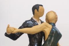 Escultura: pareja bailando un tango