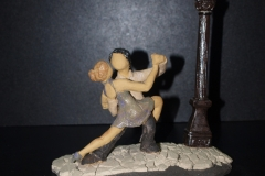 Escultura: pareja bailando tango