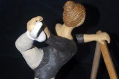 Escultura: bailarina de ballet practicando