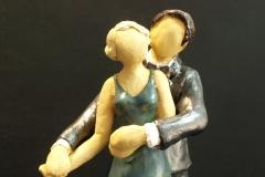 Escultura: pareja bailando