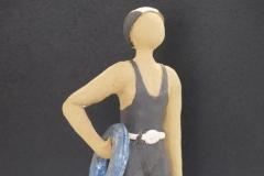 Escultura: hombre en traje de baño antiguo