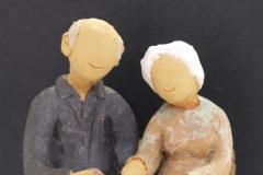 Escultura: pareja de ancianos