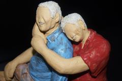 Escultura: Pareja de personas mayores